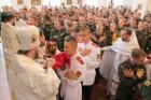 В возрожденной полковой церкви в Сумах причастились 200 кадетов