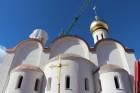 В Мадриде освятили купол и крест для строящегося храма в честь св. Марии Магдалины